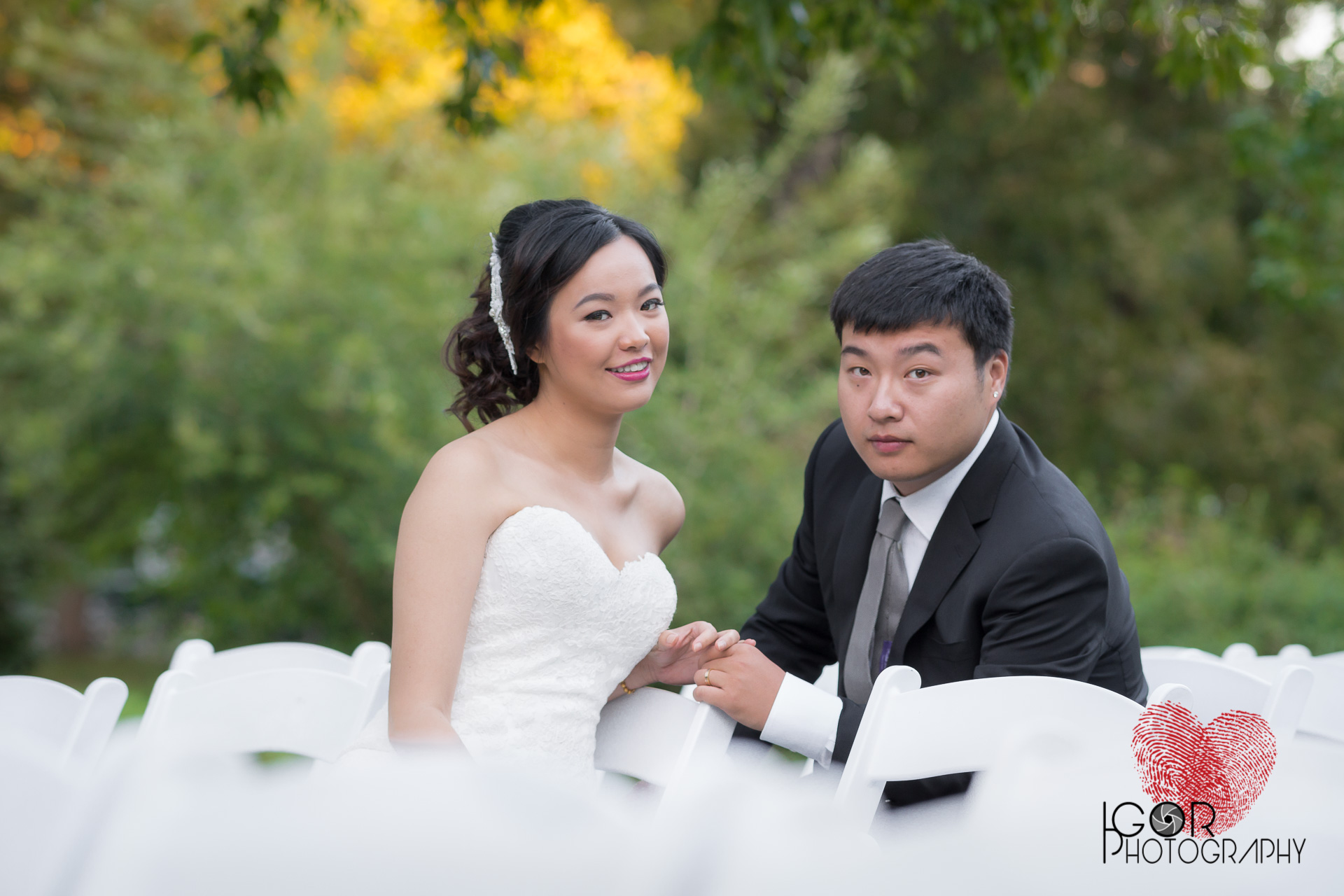Fort Worth wedding photography at the Botanical Garden