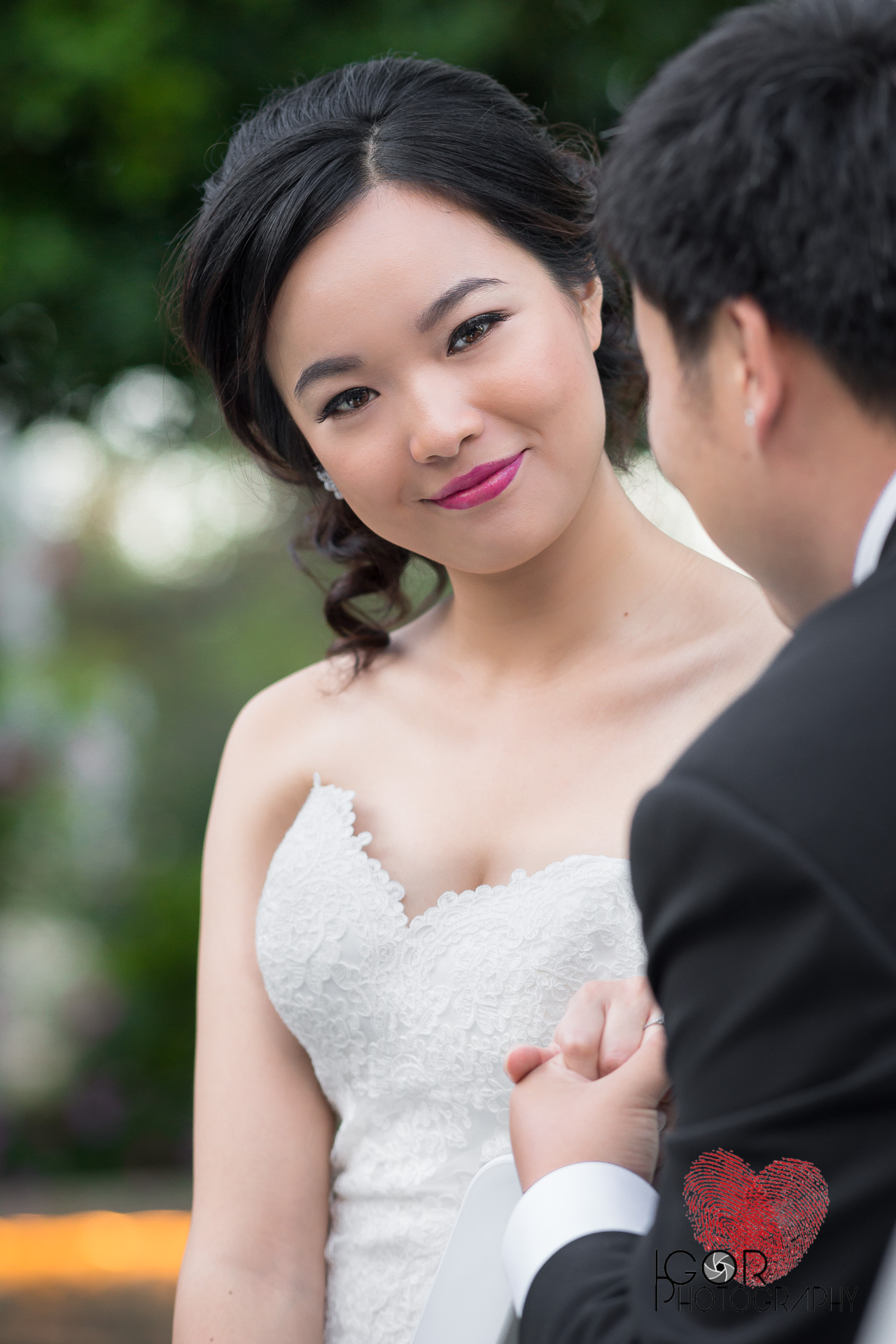 Asian bride in Fort Worth