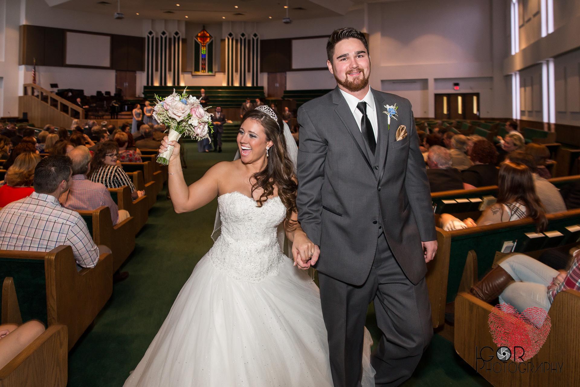 Married couple in joy