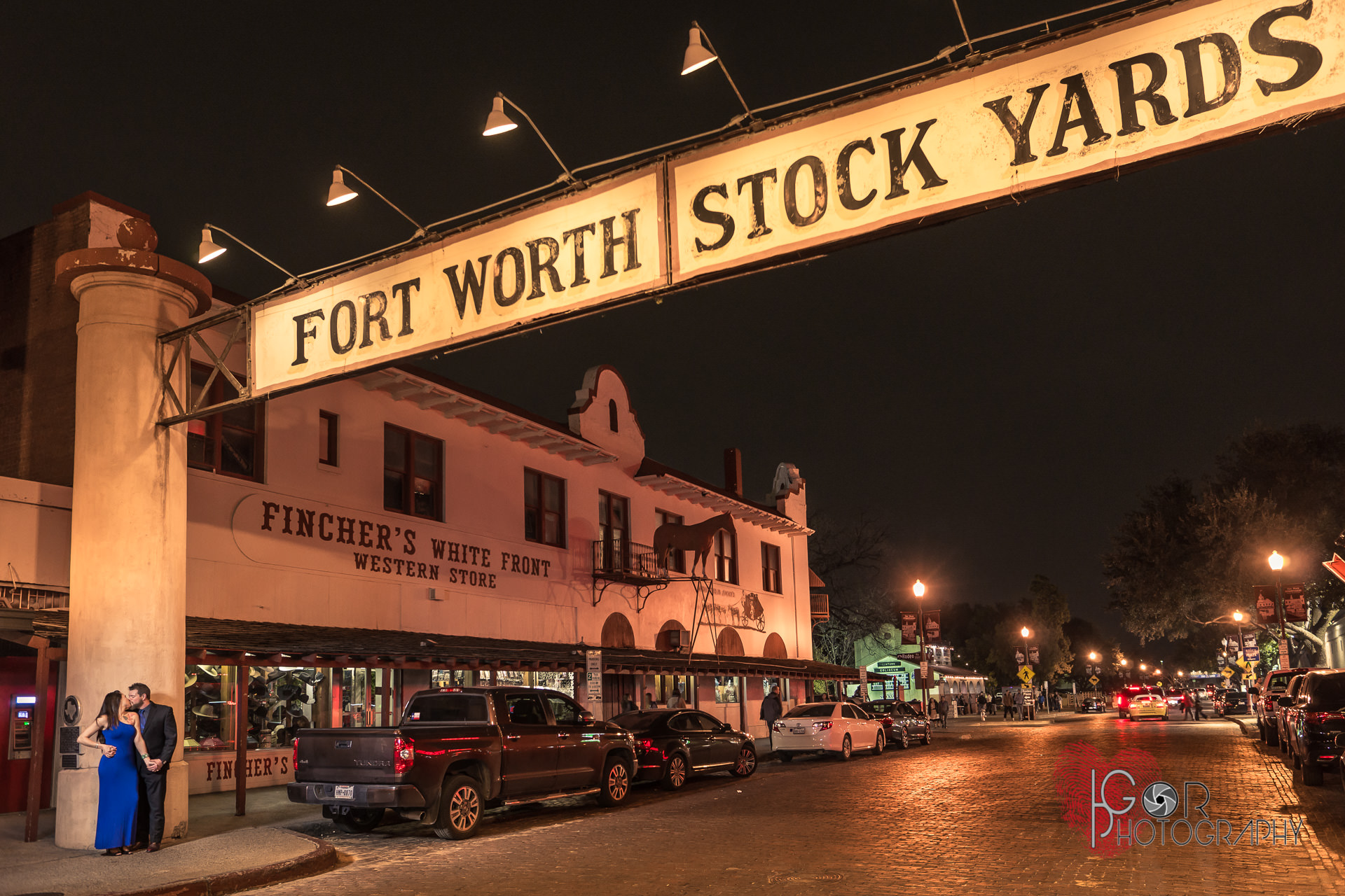 Romantice engagement at the Stockyards