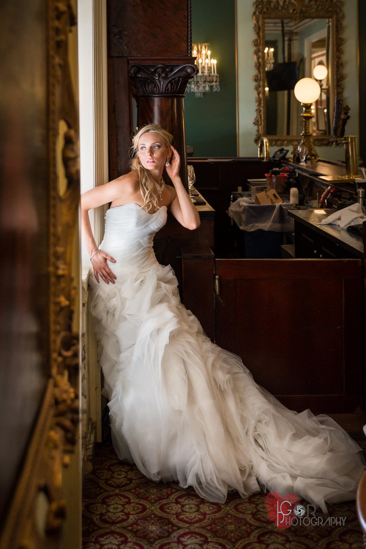Romantic bride photography