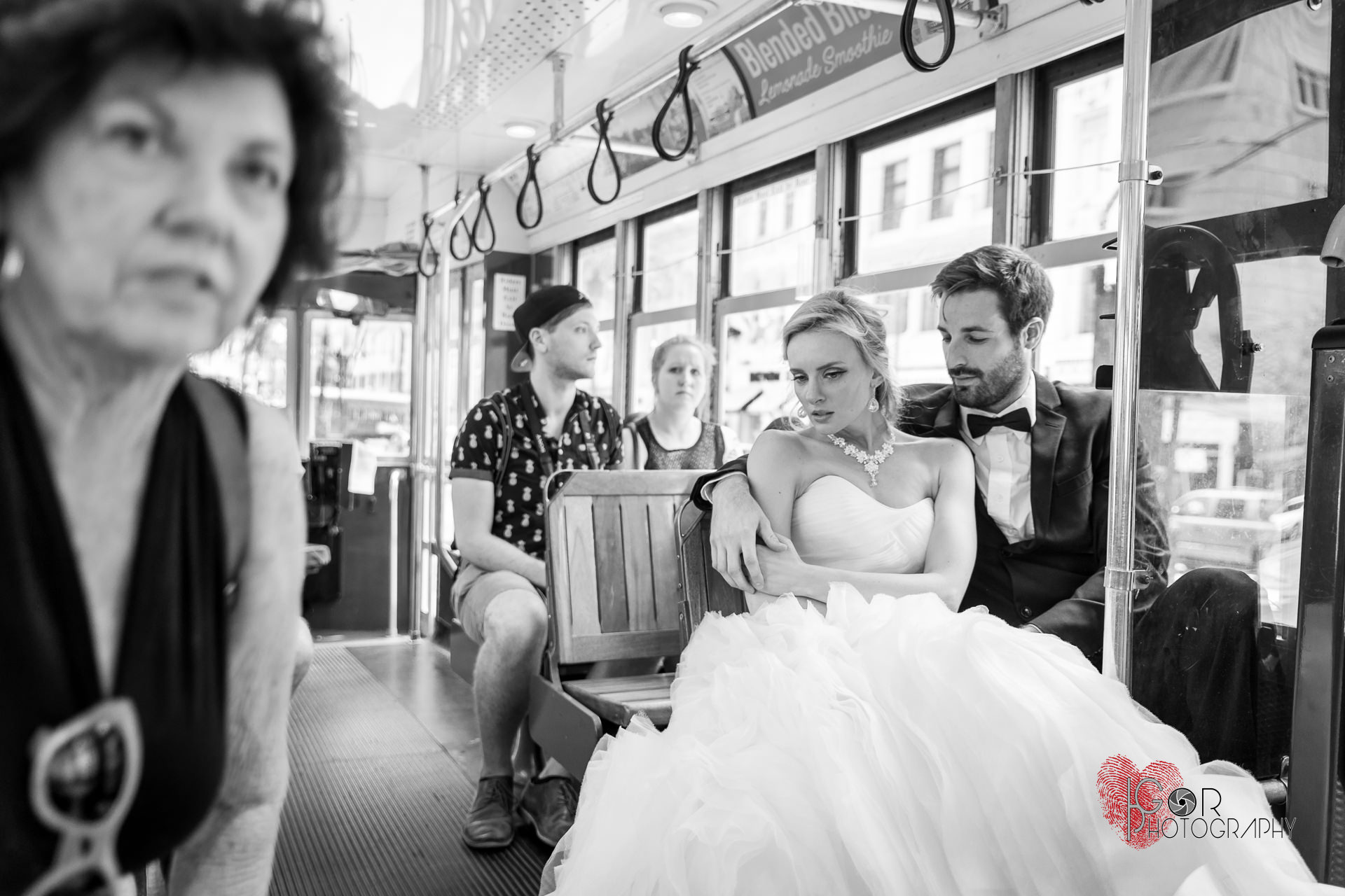 Candid wedding street photography