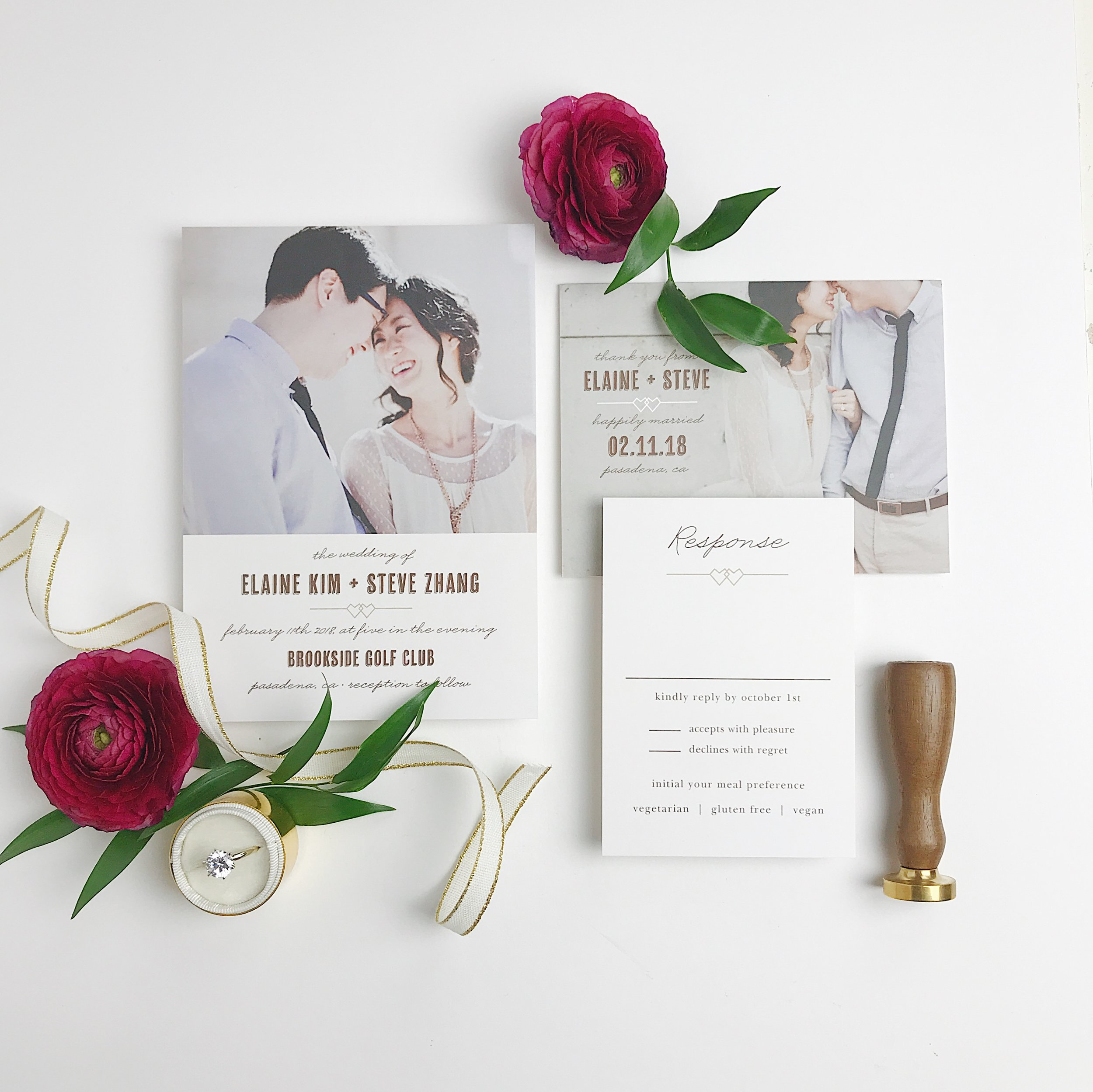 Personalize your wedding invitations with photos for a more personal touch!