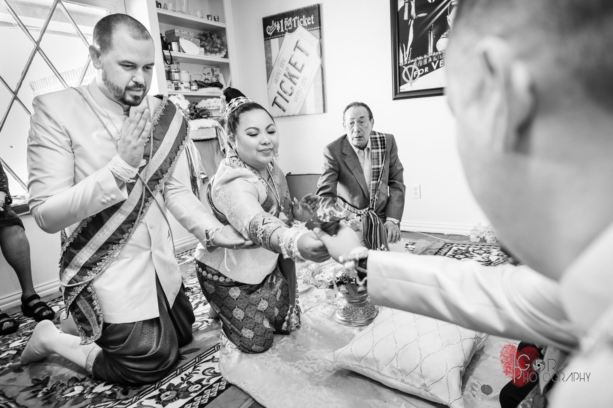 Laotian wedding ceremony