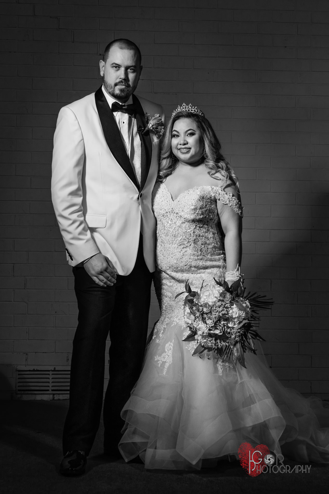 Groom and bride Irving Banquet Hall