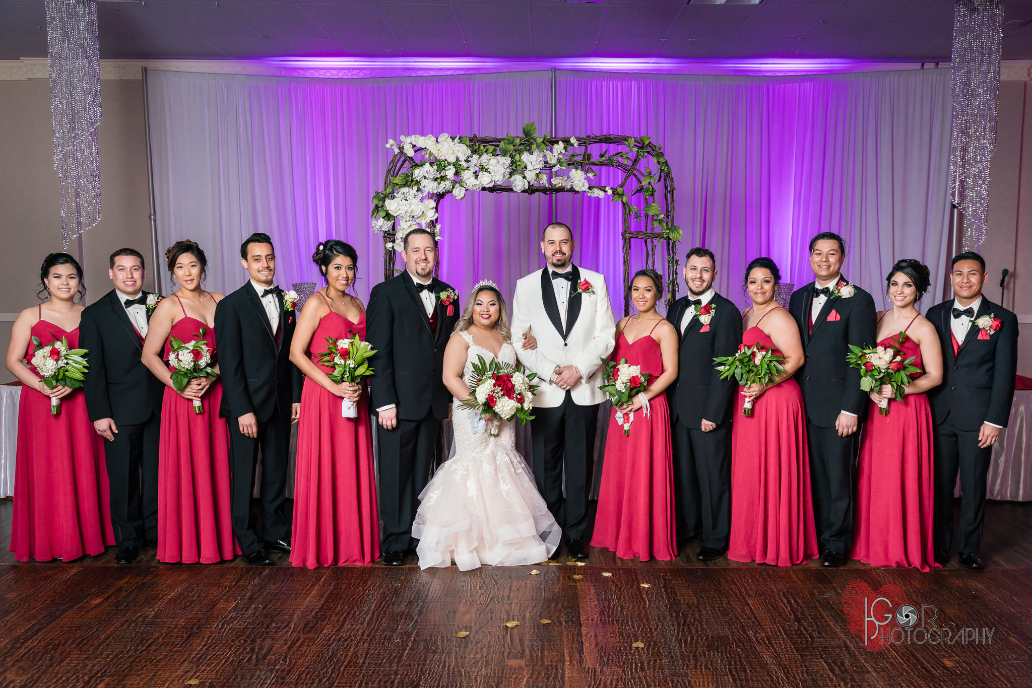 wedding party in Irving