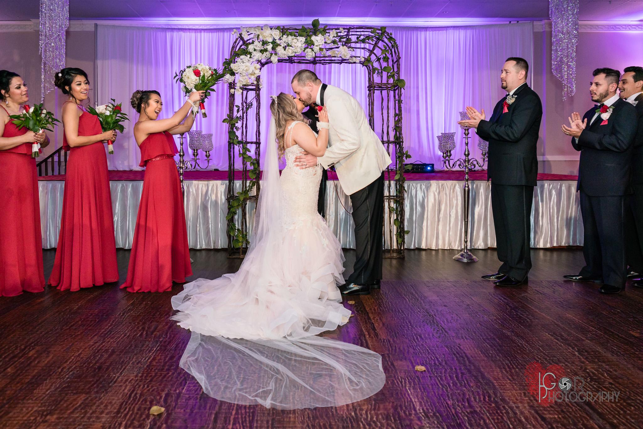 American wedding ceremony