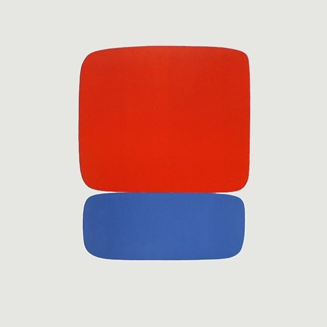 Ellsworth Kelly, Red-Orange over Blue, 1965  #inspiration #menswear #ss17  #color