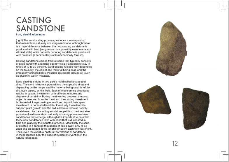 two page spread of a description and a specimen image