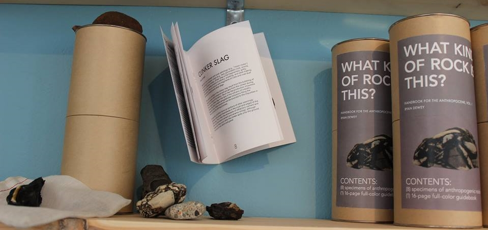 anthropogenic rock collections at SPACES gallery (image courtesy of SPACES)