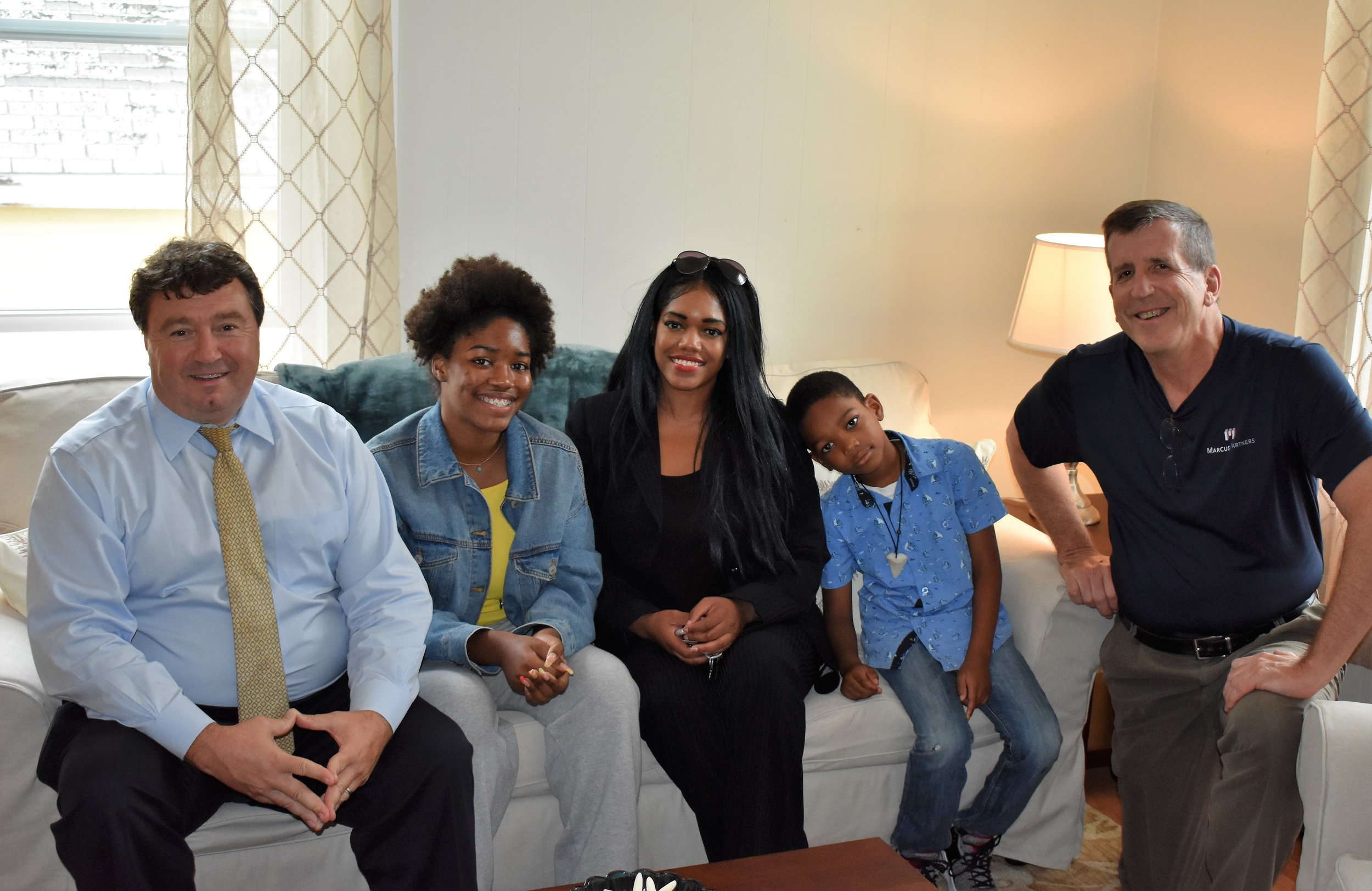 Centerboard CEO Mark DeJoie, Legacy, Grace, Isaiah, and Marcus Partners CEO Paul Marcus.