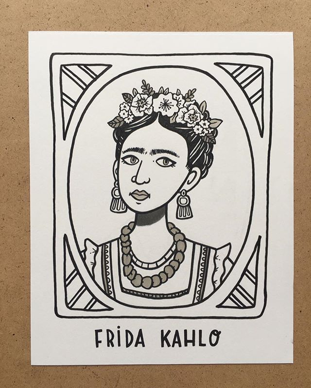 2. Frida Kahlo, artist & activist. Her strength to push past physical pain and create her art is one of the many things that makes her rad. #the100dayproject #100daysofradladies