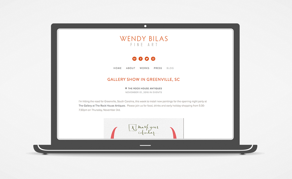 Wendy Bilas Website: Blog