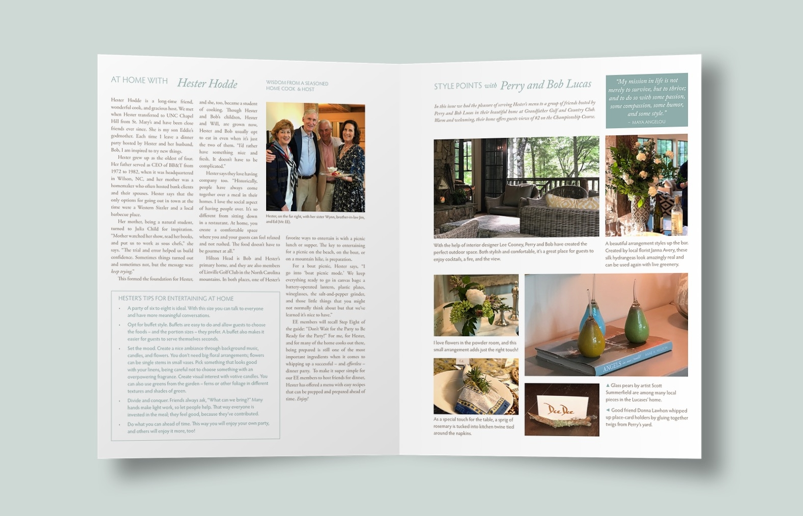 """My Effortless Entertaining"", 12-page quarterly printed newsletter"