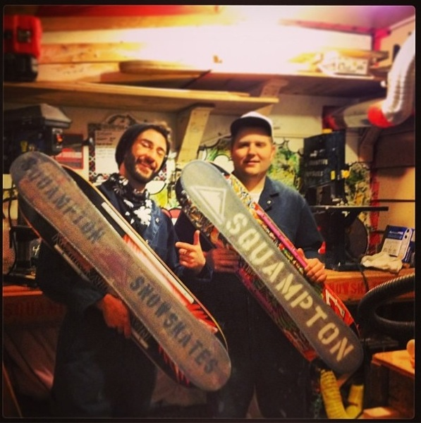 The first 2 Squampton Snowskates ever. These will be worth a fortune one day!