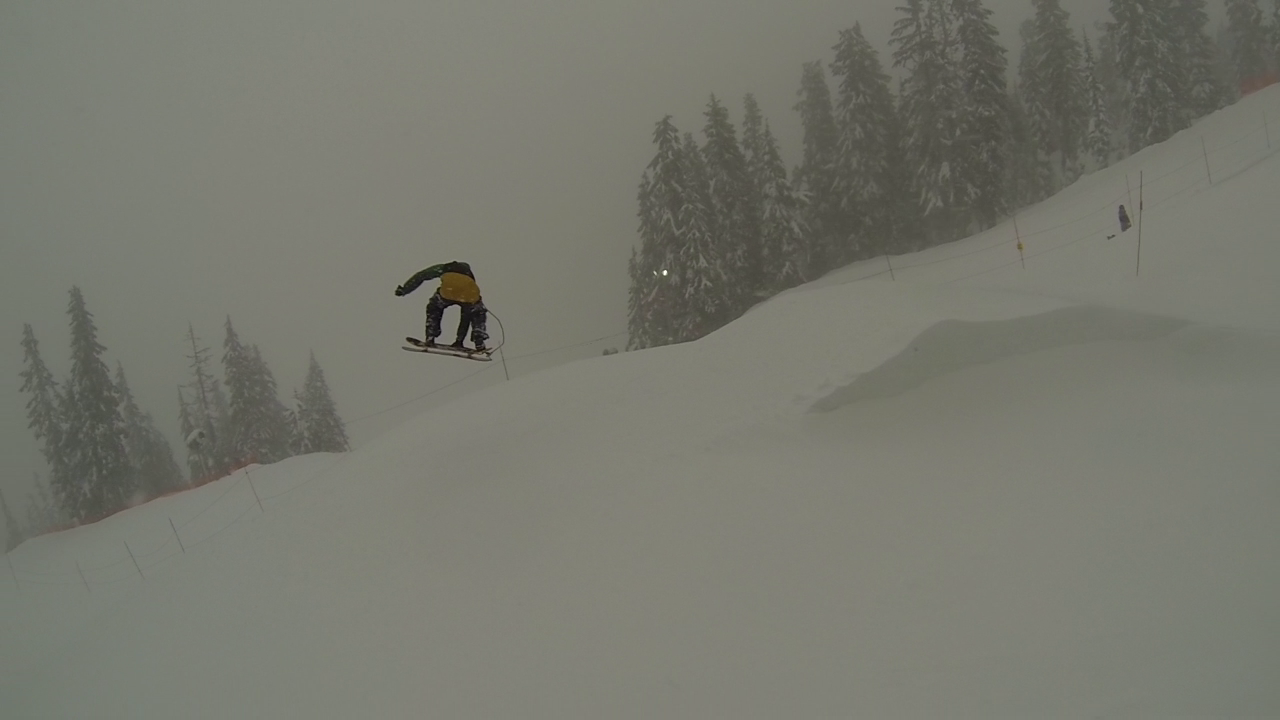 Squampton Snowskates' own Jesse Davidson showing everyone that yes in fact you can send it like a BOSS on a snowskate