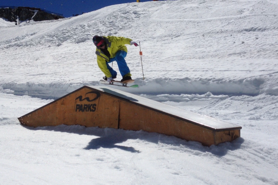 Nick Varey goin' for it on the Blackcomb Glacier for Canada Day
