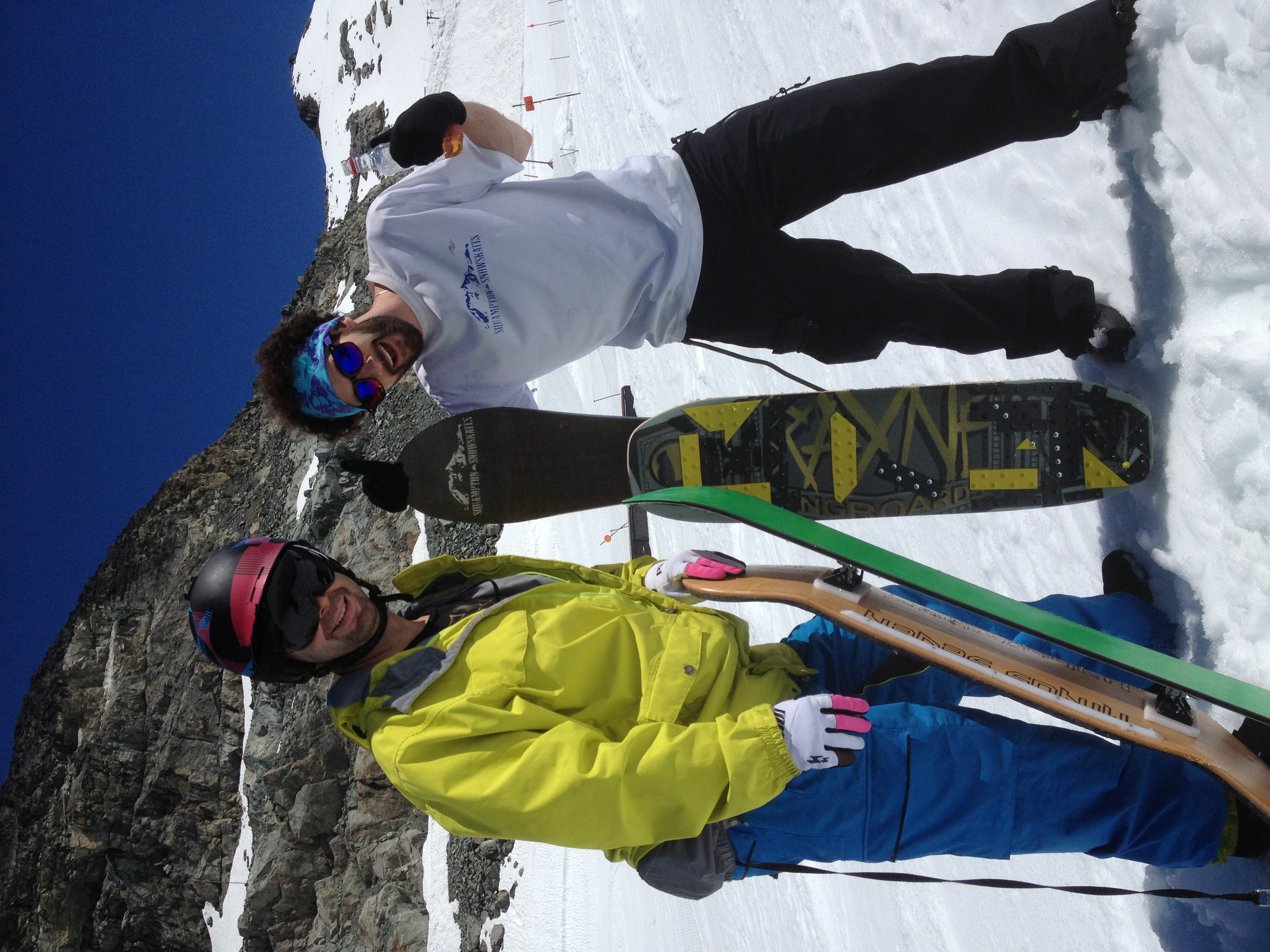 Getting warmed up on the Blackcomb Glacier. (nice gloves Nick!)