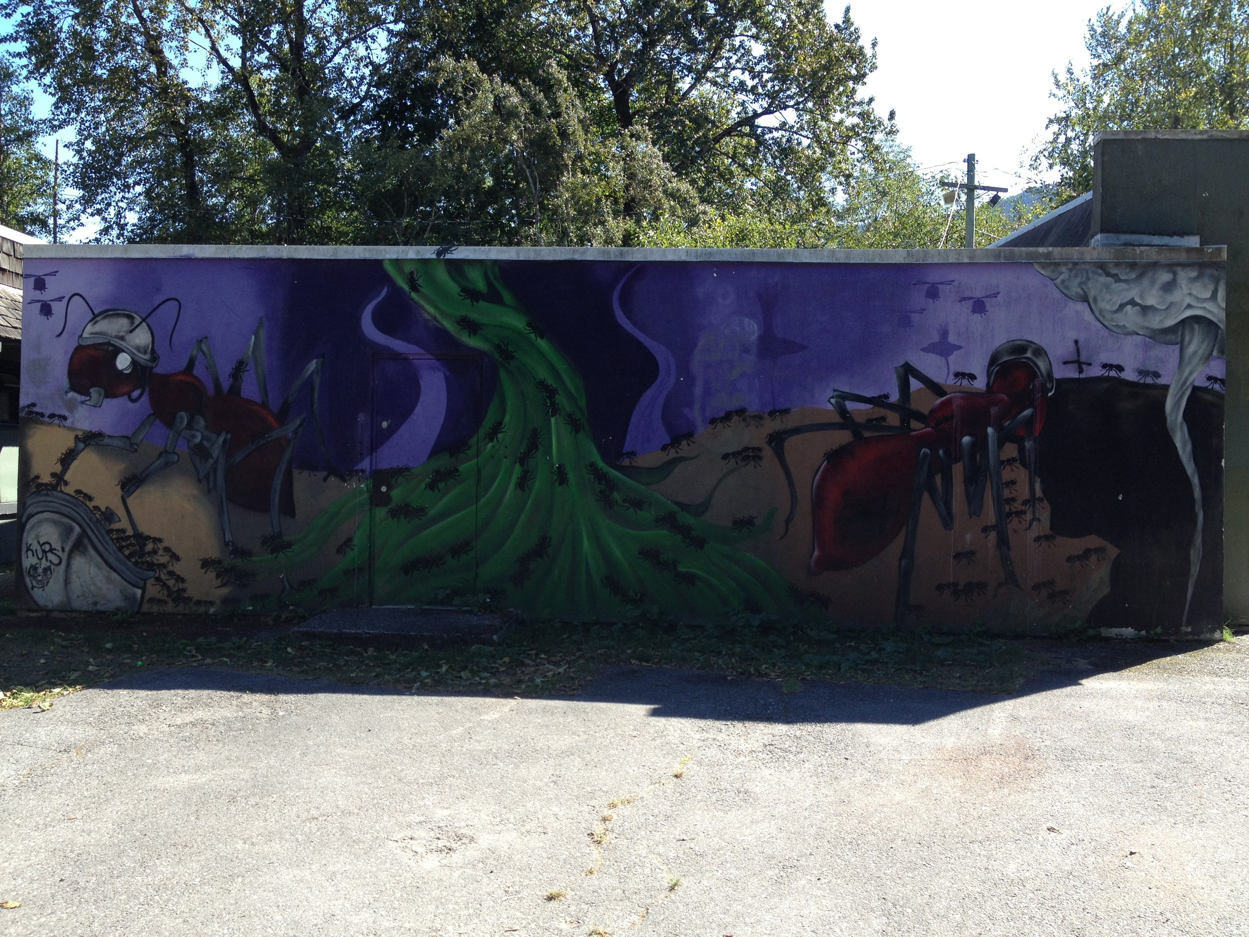 the Ants are marching. Squamish Youth Recreation Center. September 10, 2014