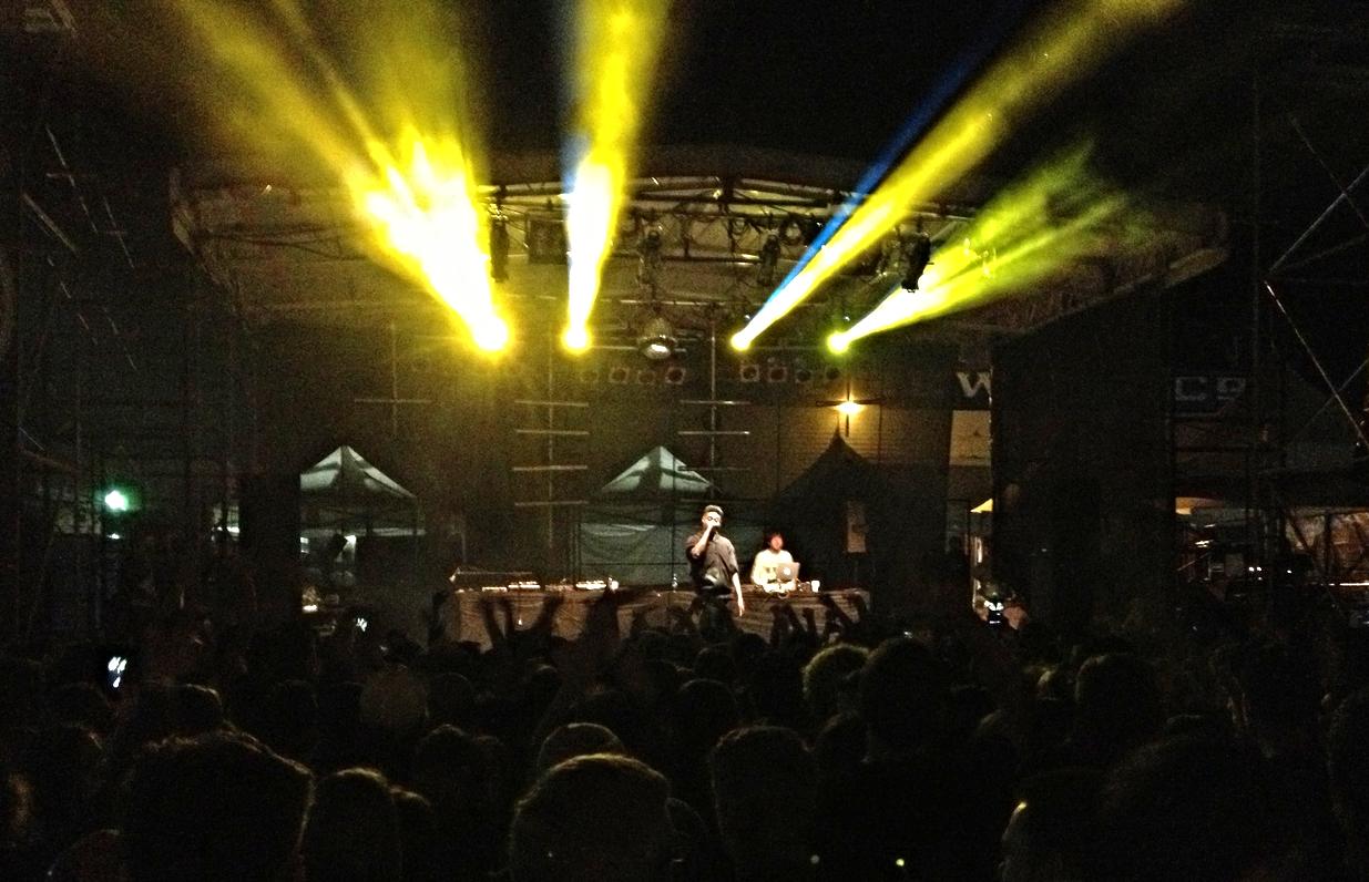 Danny Brown at Phillips Backyard, Rifflandia Music Festival, Victoria, BC. September 11, 2014.