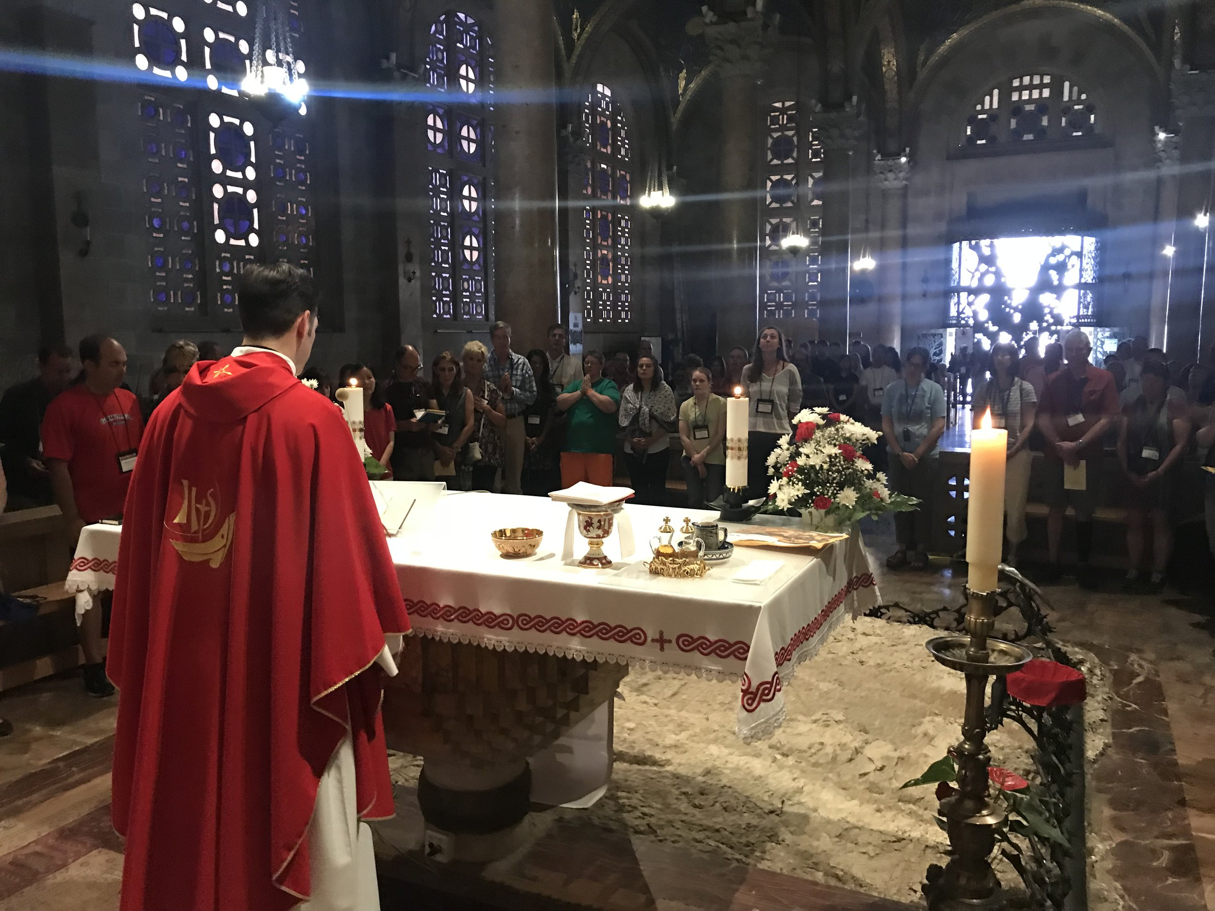 Mass at the Church of All Nations in the Garden of Gethsemane