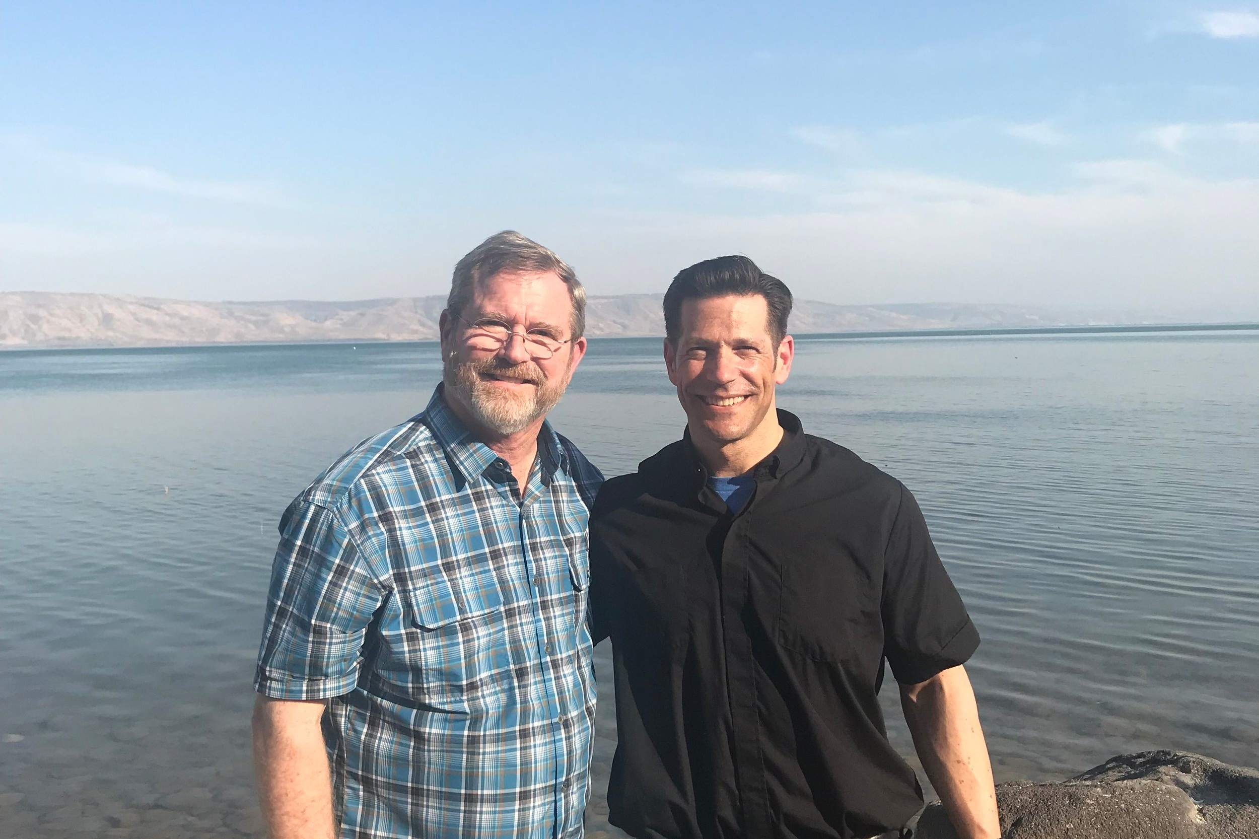 Jeff Cavins & Fr. Mike Schmitz invite you to walk with them on the shore of the Sea of Galilee!