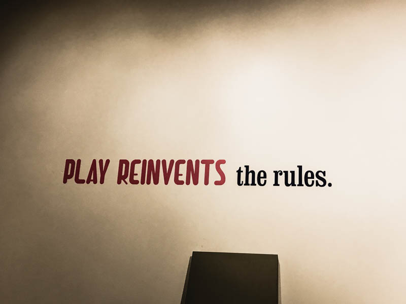I love this quote. If only we played more as adults. Then again, the boys are always making us play. I love that part of being a Nana. Without the boys I'm not so sure we would go out and do all these fun things.