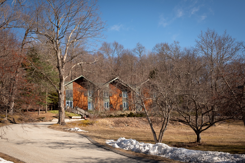 The Apple Tree Inn…Cabins in the woods. We were in the first unit.