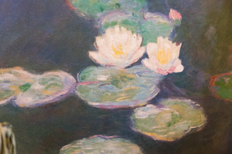 This is a painting from his famous lily pond. It was hanging in one of the bedrooms. I think it was nice that he appreciated his own art. His paintings from the lily pond are some of my favorites. Beautiful colors but very subdued. They bring a sense of peace while viewing them.