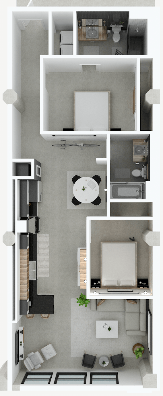 Fire Blocks District Ohio - Design Development Master Plan Loft Apartment