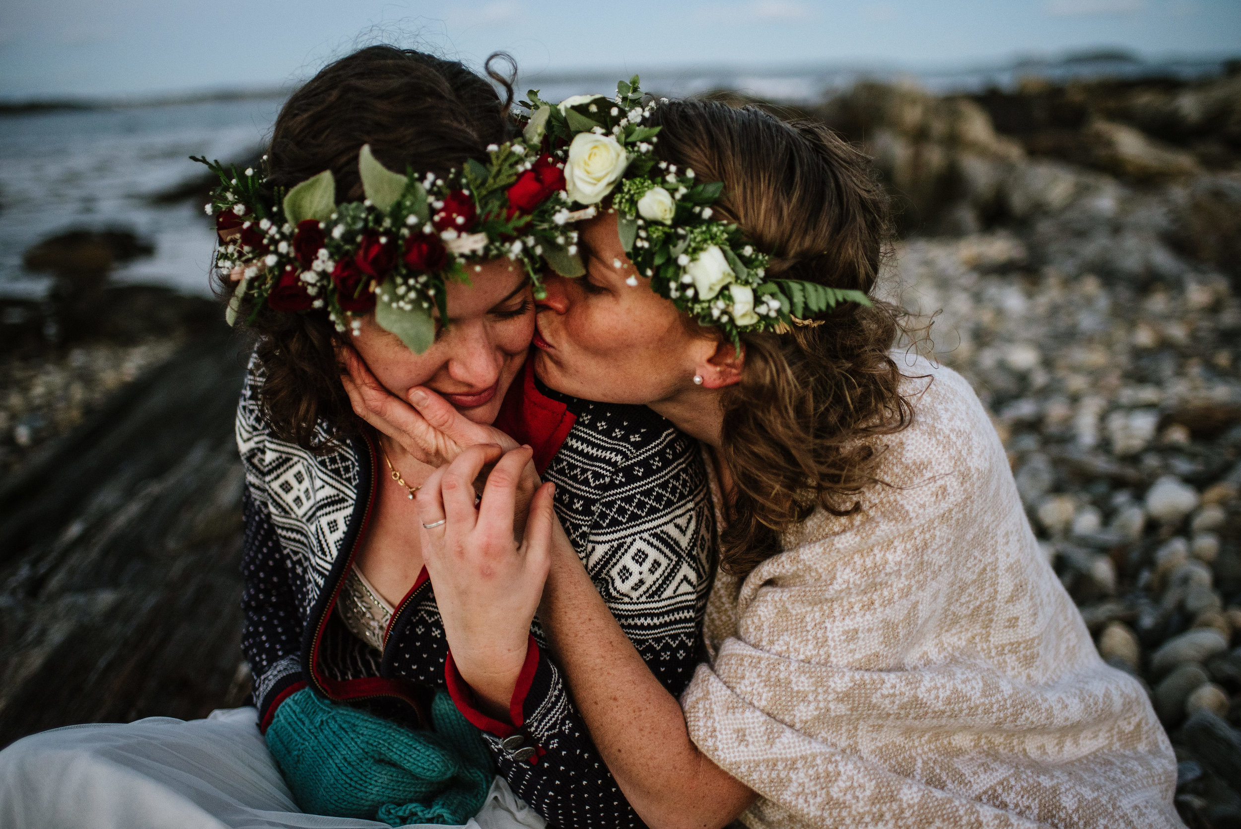 Kaleigh and I got married in an intimate ceremony on Prouts Neck in Maine. (Photo: Bethany and Dan Cox)
