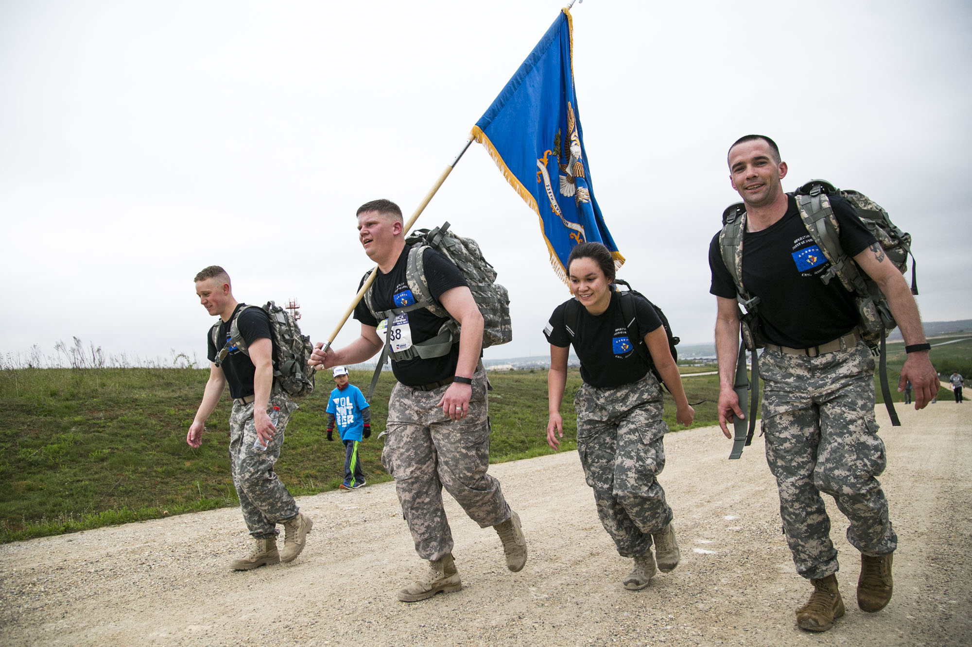 Filmmed and photographed a half marathon at Camp Bondsteel in Kosovo for American300.