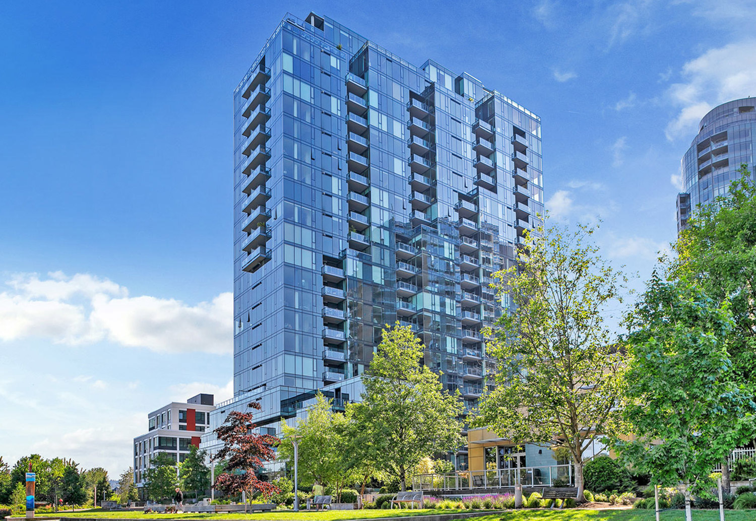 Atwater Place Condominiums: its gleaming, sculptural facade has become a iconic Portland landmark.