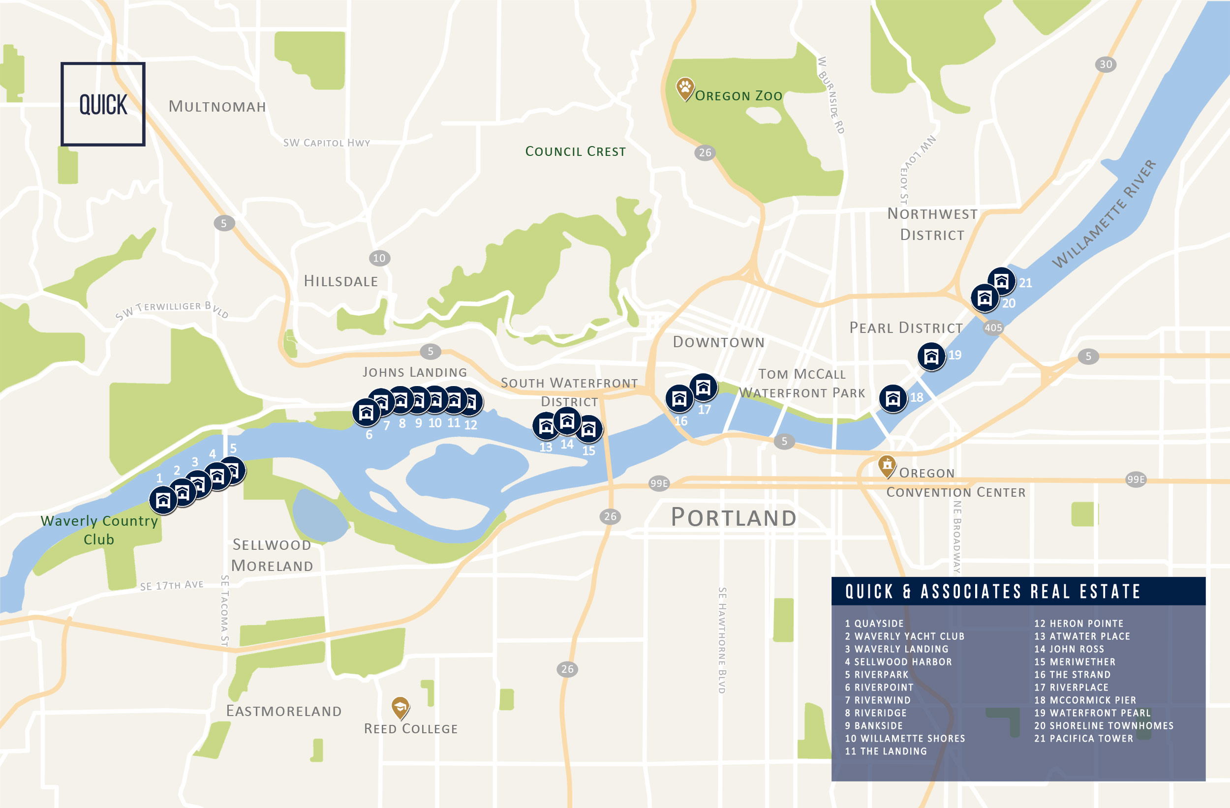 Report sample: Portland Waterfront Condo map