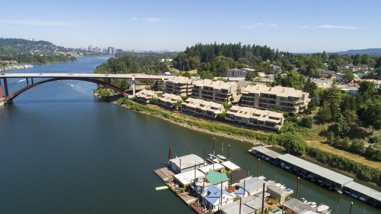 Sellwood Condos along the Willamette river