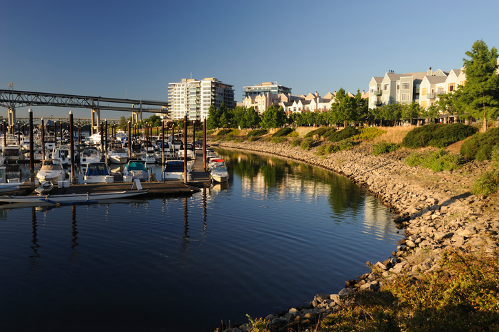 RiverPlace Marina with RiverPlace and The Strand Condos