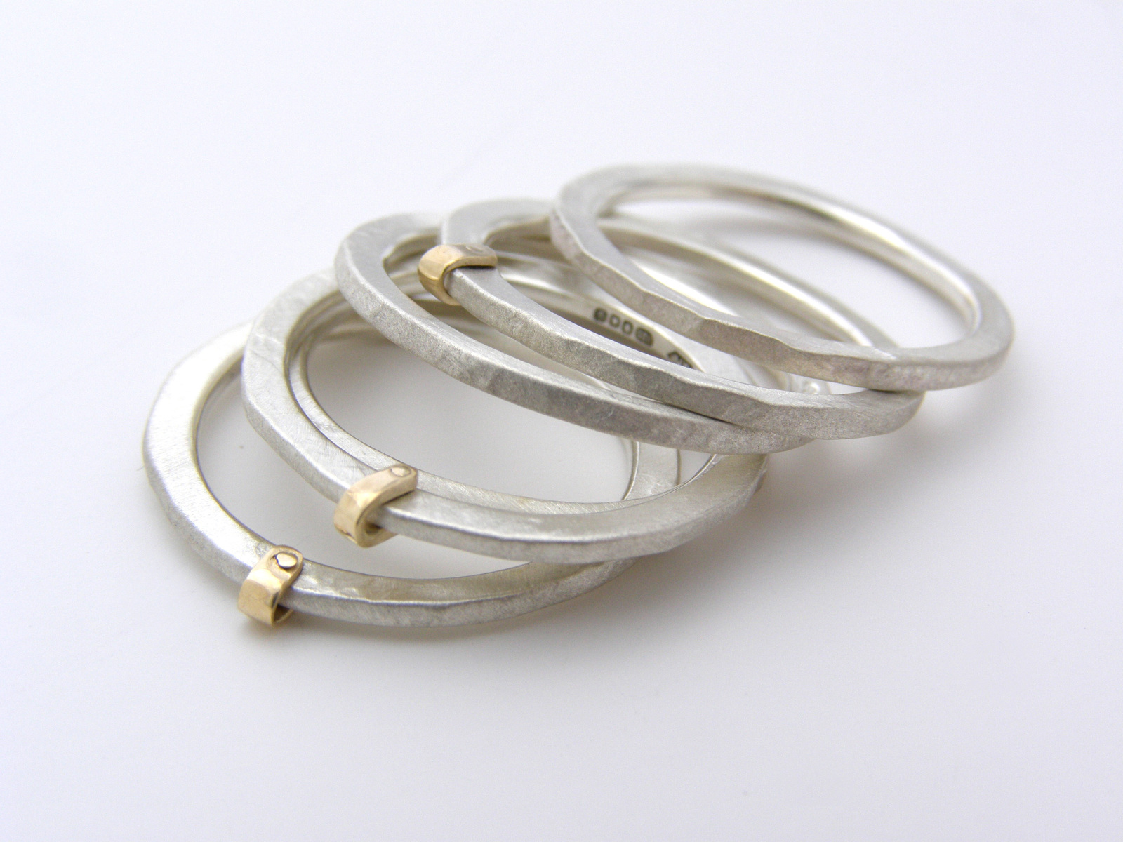 Gold Fold Ring Stack