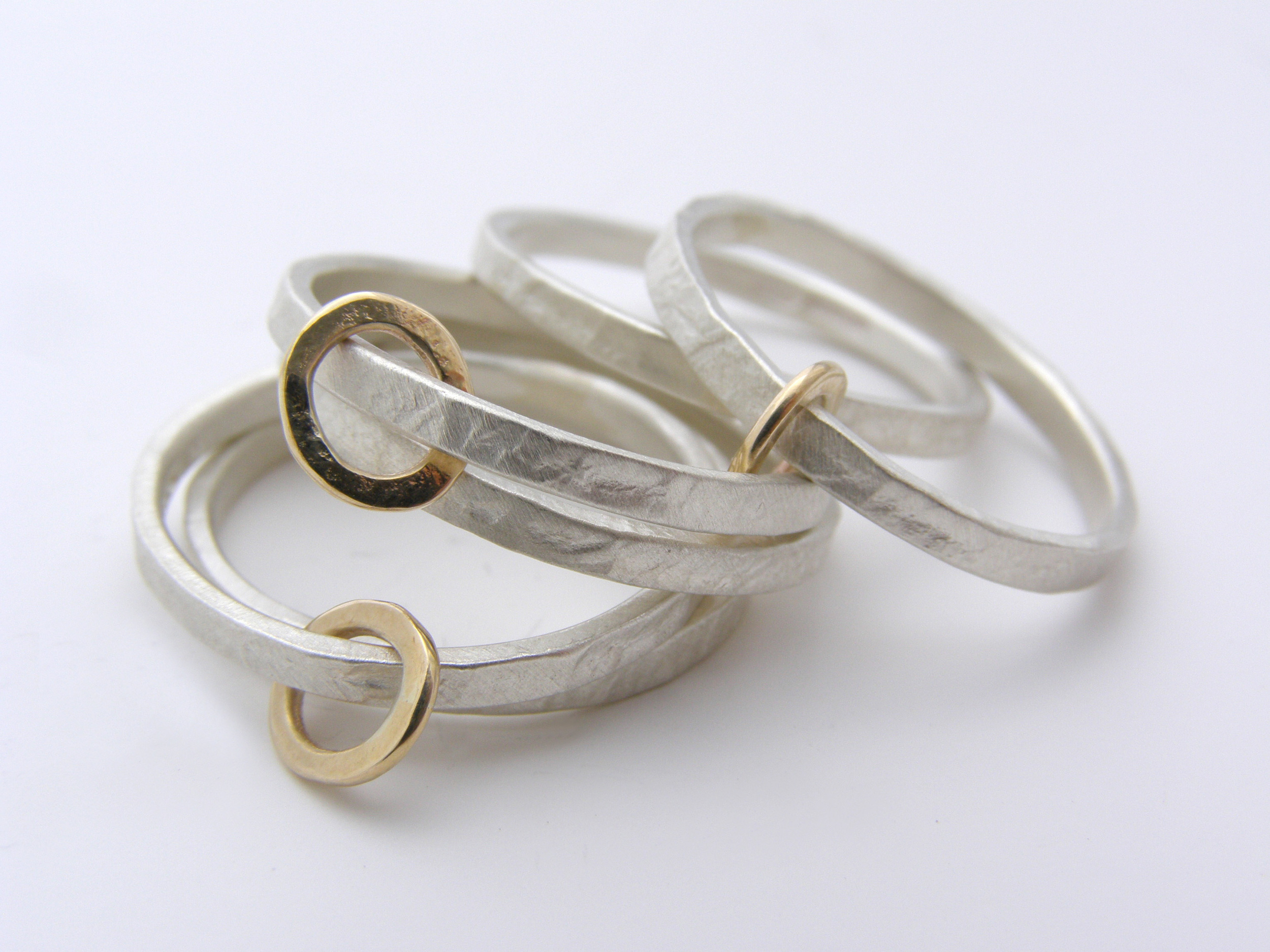 Gold Hoop Ring Stack