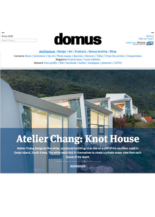 Domus  08. 2014   Knot House, Korea