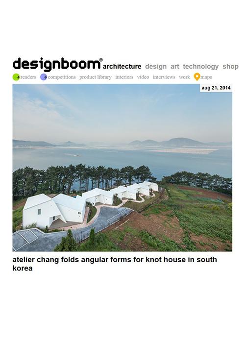 Design Boom  08.2014   Knot House, Korea