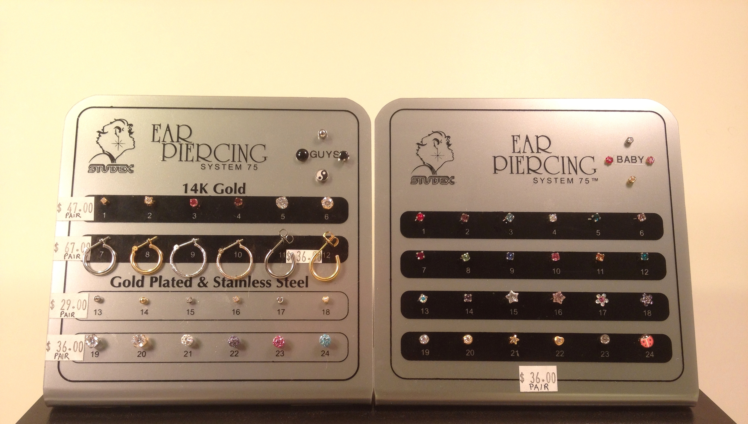 Over 56 choices in piercing jewelry