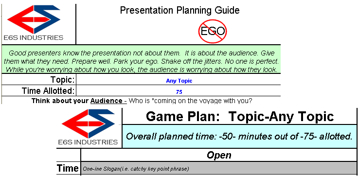 Presentation Planning Guide - $6.33 - Buy Now