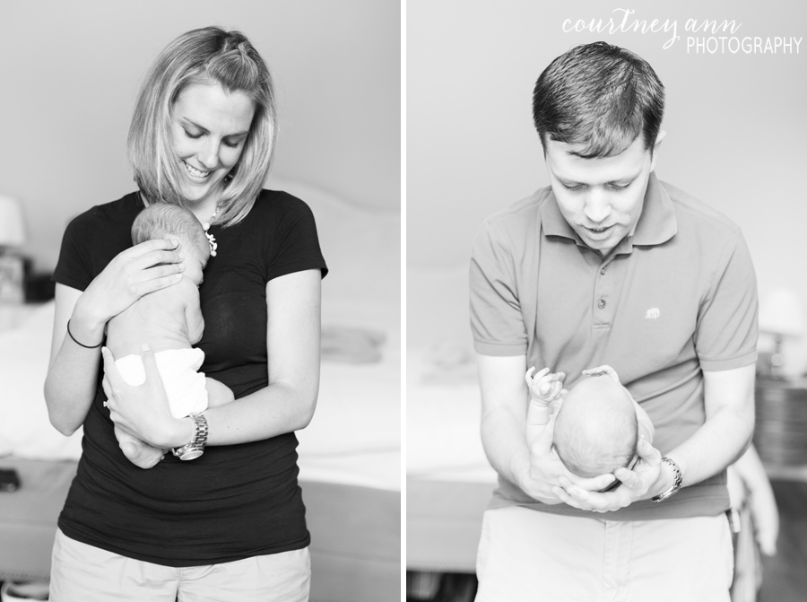 fairfield_county_newborn_family_session_mom_and_dad_black_and_white