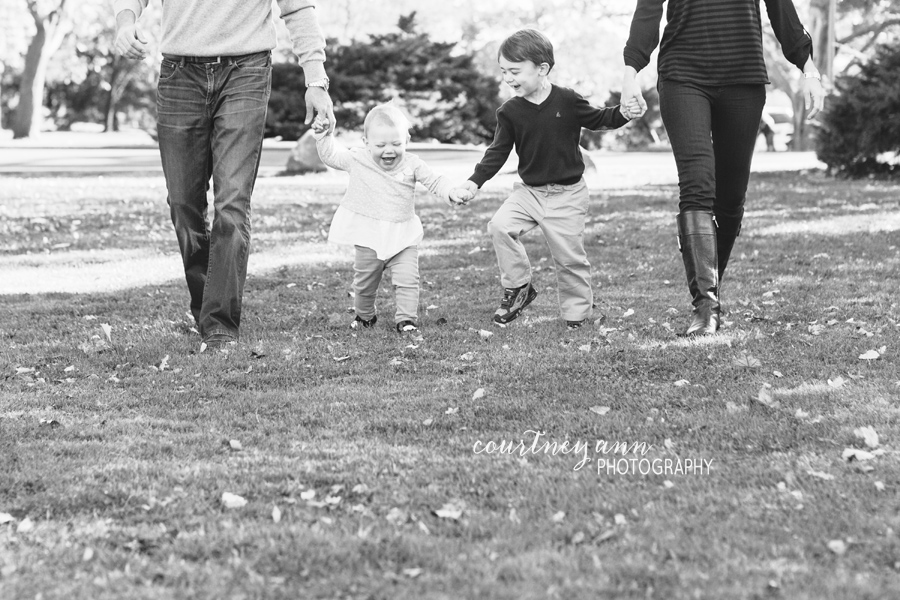 fairfield_county_park_family_session_walking_black_and_white