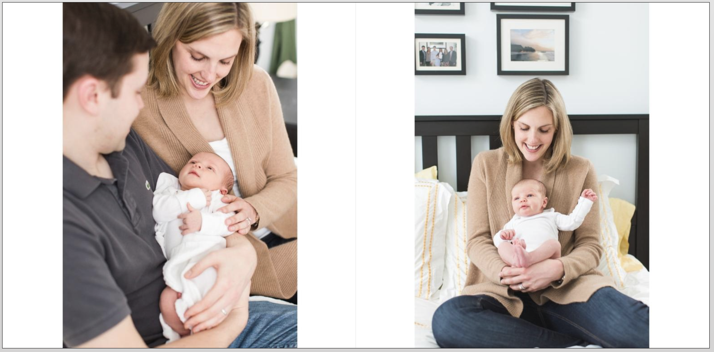 Example of 1 spread (2 pages), with one image on each page