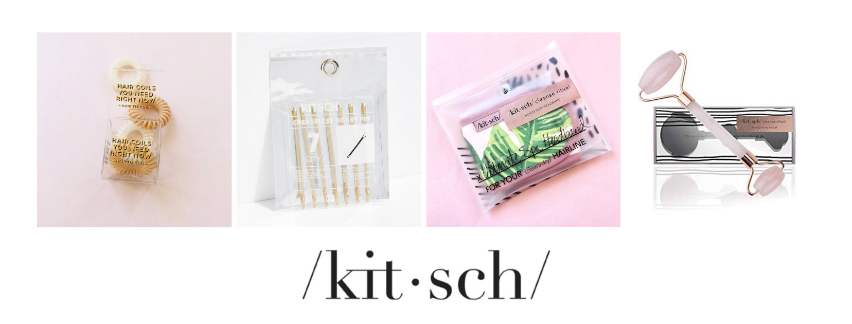 Kitsch Accessories select items available in our online shop and more available in essential for any beauty routine