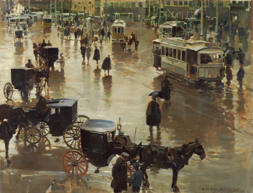 Enrique Martínez Cubells (Spanish, 1874-1947), La Puerta del Sol, Madrid, 1902