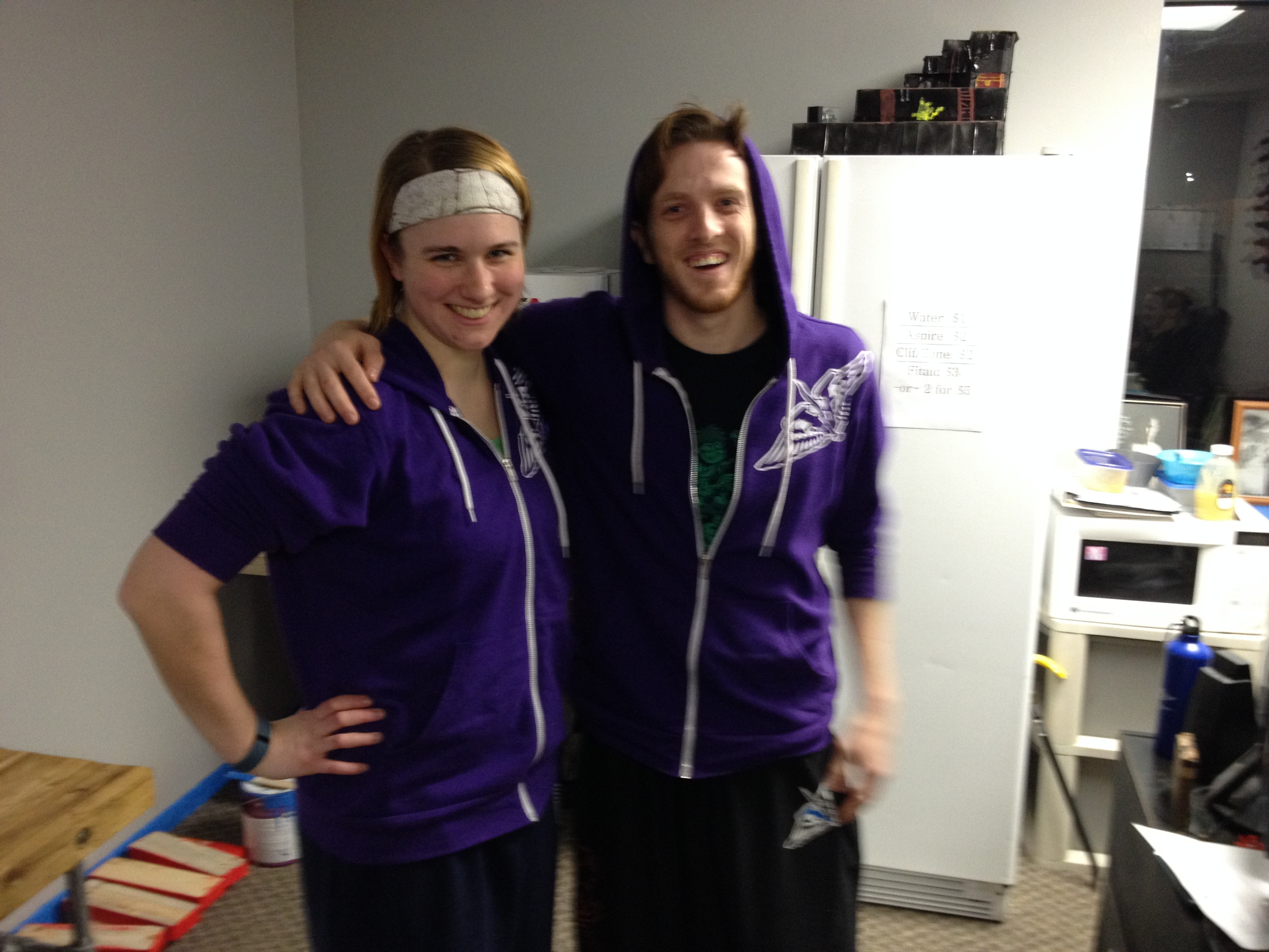 Josh might be a big jerk most of the time, but we're still purple twins!