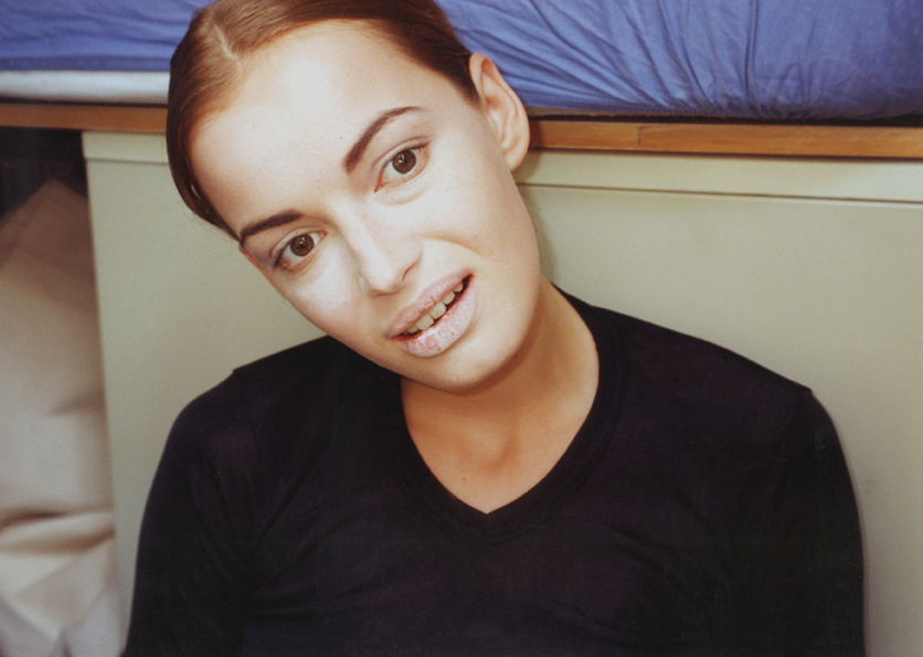 supermodels? untitled weisses gesicht, 30 cm x 20 cm, c-print, mounted on aluminium, 1995 - 1998