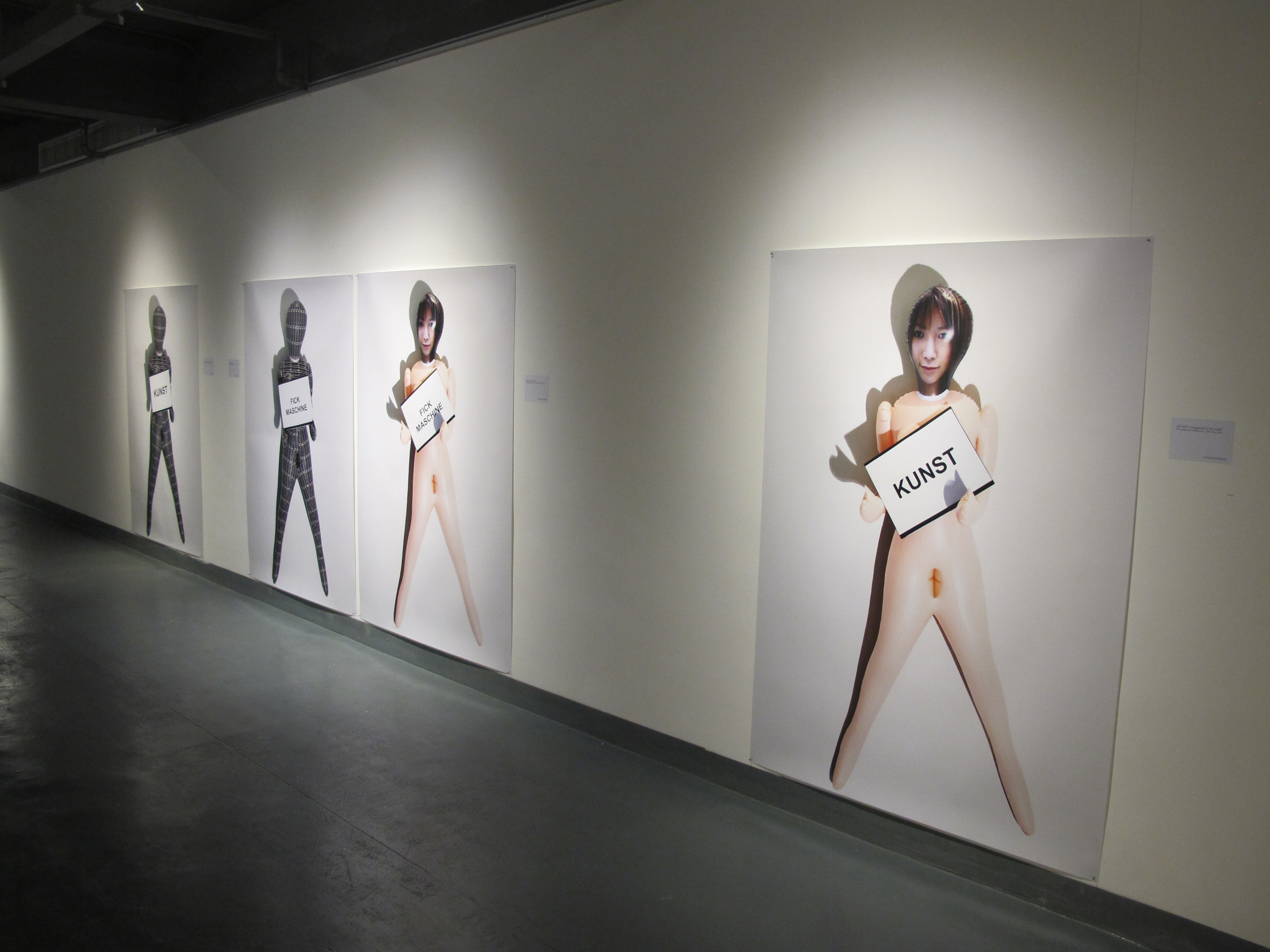 Installation view body noises,from the self-doll series, Tongqi art center Shanghai, China, 2012.